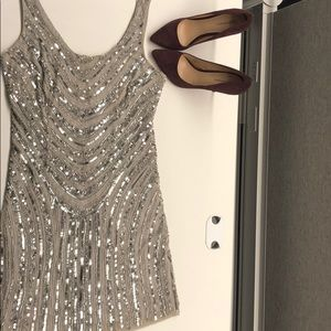 Silver part dress!